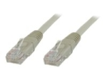 MicroConnect network cable - 10 m - grey