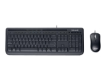 Microsoft Wired Desktop 600 - keyboard and mouse set - UK - black