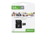 PNY Performance Plus - flash memory card - 64 GB - microSDXC