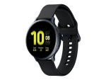 Samsung Galaxy Watch Active 2 - aqua black aluminium - smart watch with band - aqua black - 4 GB
