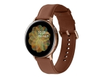 Samsung Galaxy Watch Active 2 - gold stainless steel - smart watch with band - brown - 4 GB - not specified