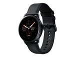 Samsung Galaxy Watch Active 2 - black stainless steel - smart watch with band - black - 4 GB - not specified