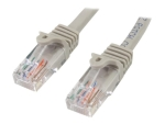 StarTech.com 2m Gray Cat5e / Cat 5 Snagless Patch Cable - patch cable - 2 m - grey