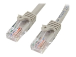 StarTech.com 5m Grey Cat5e / Cat 5 Snagless Patch Cable 5 m - patch cable - 5 m - grey