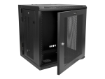 "StarTech.com 12U 19"" Wall Mount Network Cabinet - 20"" Deep Hinged Locking IT Data Enclosure - Flexible Vented Rack w/Shelf - Switch Depth rack enclosure cabinet - 12U"