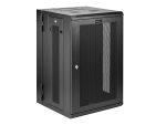 "StarTech.com 18U 19"" Wall Mount Network Cabinet - 16"" Deep Hinged Locking Flexible IT Data Equipment Rack Vented Switch Enclosure w/Shelf rack enclosure cabinet - 18U"