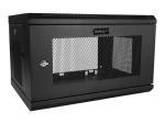 "StarTech.com 6U Wall Mount Server Rack Cabinet - 2-Post Upto 15"" Deep IT Network Equipment Rack Enclosure with Cable Management - 200lbs (RK616WALM) rack enclosure cabinet - 6U"