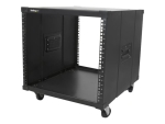 "StarTech.com 9U Open Frame Rack with Wheels - 4 Post 23"" Deep Portable Open Frame Cabinet for 19"" Network, Data & Server Equipment - 220 lbs capacity (RK960CP) rack - 9U"