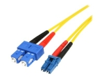 StarTech.com 4m Fiber Optic Cable - Single-Mode Duplex 9/125 - LSZH - LC/SC - OS1 - LC to SC Fiber Patch Cable (SMFIBLCSC4) - patch cable - 4 m - yellow