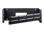 "StarTech.com 4U Hinged Wall Mount Patch Panel Bracket - 6 inch Deep - 19"" Patch Panel Swing Rack for Shallow Network Equipment- 33lbs (WALLMOUNTH4) - wall mount bracket - 4U - 19"""