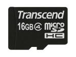 Transcend - flash memory card - 16 GB - microSDHC