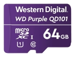 WD Purple SC QD101 WDD064G1P0C - flash memory card - 64 GB - microSDXC UHS-I